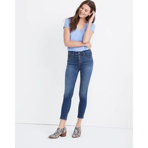 """MADEWELL 9"""" Mid-Rise Skinny Crop Jean Button-Front"""
